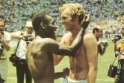 Pel and Bobby Moore at Mexico 1970