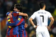 Lionel Messi, Xavi Hernandez and Cristiano Ronaldo
