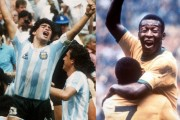 Diego Maradona and Pele